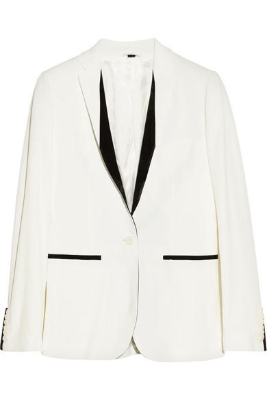 Blazer blanc en crêpe porté par Alizée aux #NMA | shozap
