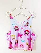 top,shirt,t-shirt,blouse,emoji crop top,home accessory,white,pink,emoji print,bow,girl,tank top