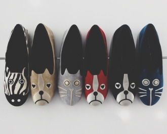 shoes ballet flats dog zebra cats