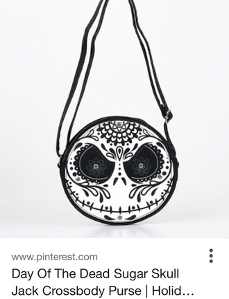 bag sugar skull dia de los muertos nightmare before christmas jack skellington