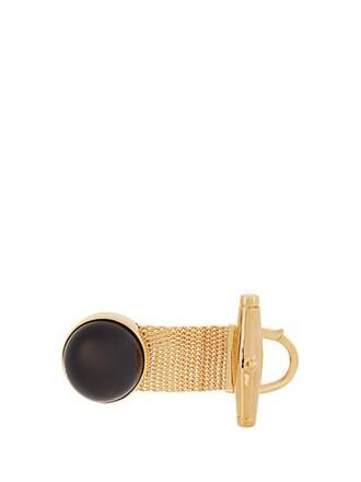 watch gold black jewels