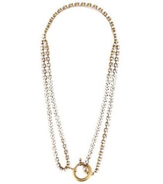 embellished necklace gold jewels