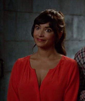 romper hannah simone new girl cece parekh red