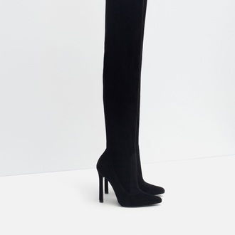 shoes boots high heels boots black boots knee high boots winter boots black