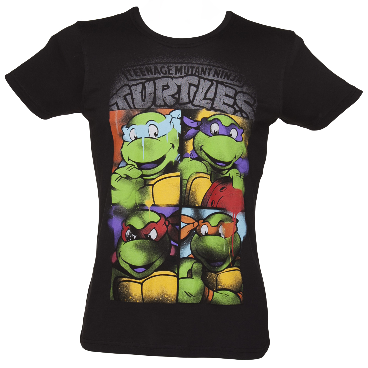Black t shirt ebay - Official Men S Black Teenage Mutant Ninja Turtles Graffiti T Shirt Ebay