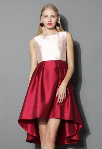 dress pretty in rouge waterfall prom dress prom dress chicwish