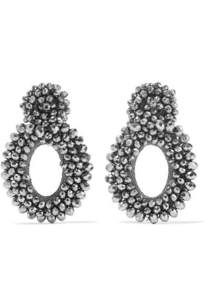 Bibi Marini earrings silver silk jewels