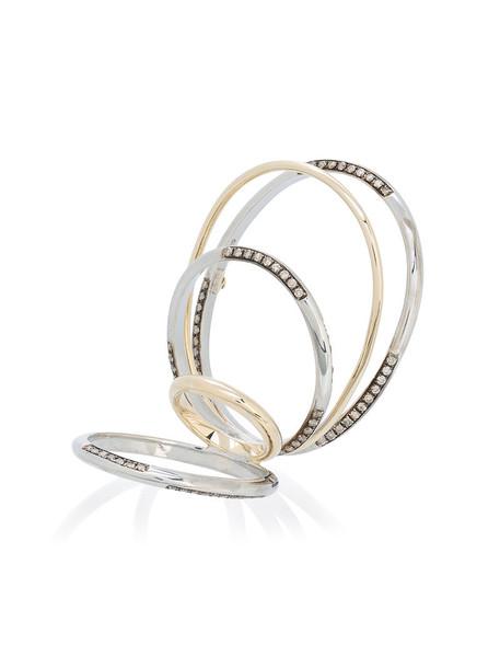 Gaelle Khouri diamond ring women ring gold silver grey metallic jewels