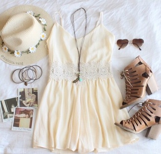 dress beige dress yellow dress summer dress cute dress