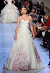 white dress,wedding dress,zac posen,bustier dress