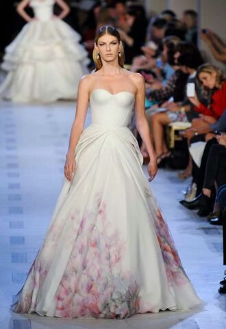 white dress wedding dress zac posen bustier dress