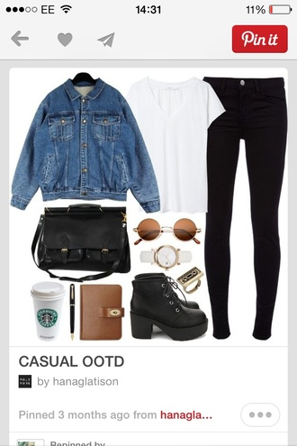 t-shirt white t-shirt pinterest jeans shoes jacket jewels