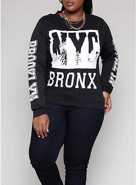 Size graphic sweatshirt