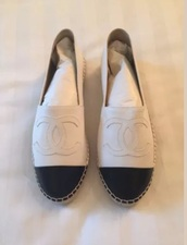 shoes,chanel leather espadrilles  size  39