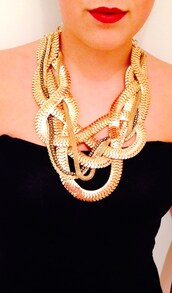 jewels,gold,snake necklace,necklace,statement necklace,fashion
