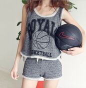 tank top,top,topshop,grey top,running shoes,sportswear,sports bra,sporty,summer sports,summer top,tan,grey tank top,women t shirts,funny t-shirt,best bitches,casual,fashion,shorts,short,distressed denim shorts,hot,lovely,lifestyle,bff gift,girl,girly,blogger,blouse,single,boho,cute outfits,cut off shorts