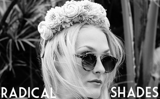 sunglasses shades sunnies eyewear glasses radicalshades black shades flower crown tortoise shell