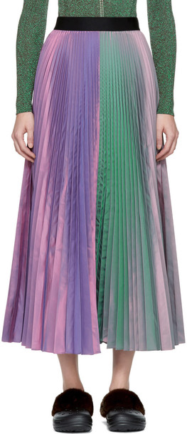 CHRISTOPHER KANE skirt pleated purple
