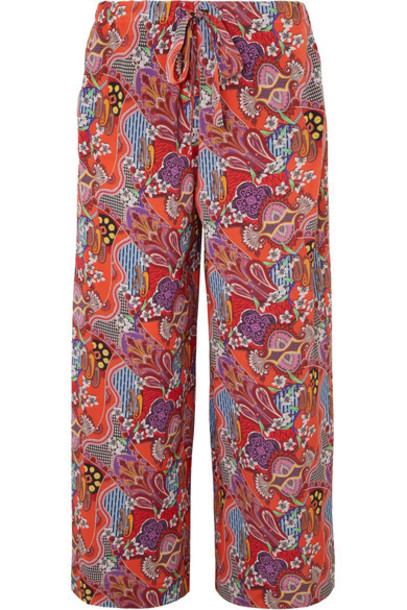 ETRO pants silk red