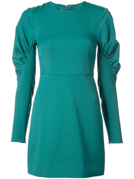 Tibi dress women spandex green
