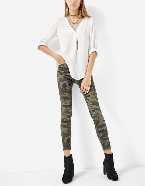 camouflage fit khaki pants