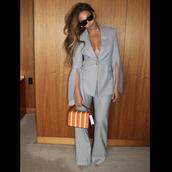 jacket,suit,grey,beyonce,instagram,celebrity,pants,flare pants