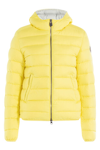 jacket down jacket quilted yellow
