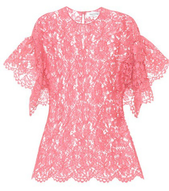 Valentino top lace top lace pink