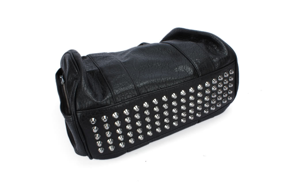Celebrity Stud Studs Studded Studed Bottom Duffel Leather Tote Bag Handbag Bags | eBay