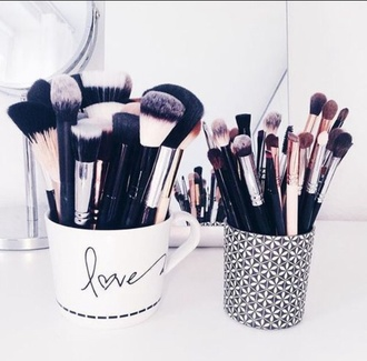 make-up cup makeup brushes beauty organizer