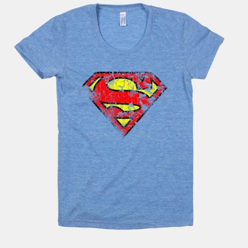 Superman Distressed | HUMAN | T-Shirts, Tanks, Sweatshirts and Hoodies