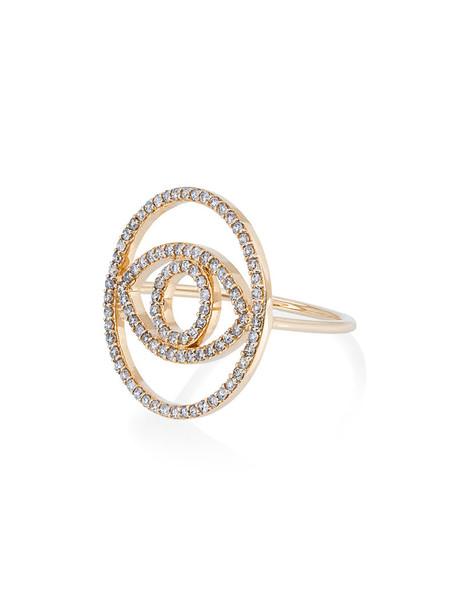 Ileana Makri women ring gold grey metallic jewels