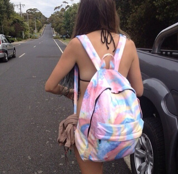 rainbow bag oil slick cool backpack