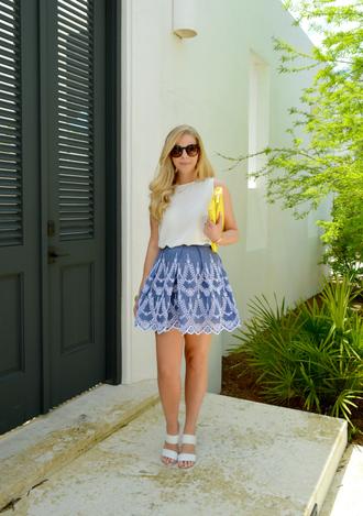 fash boulevard blogger skirt top shoes bag jewels sunglasses