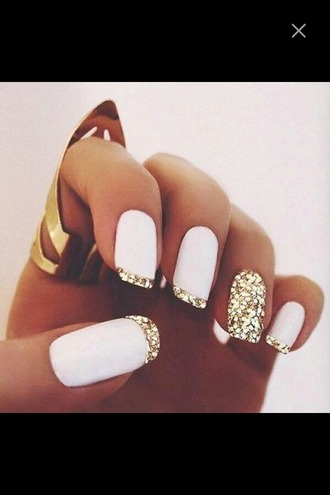 nail accessories nail polish nails diamonds glitter gold glitter nail polish white nails
