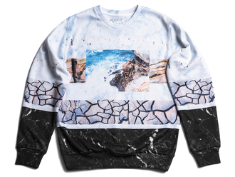 sweater printed print streetwear womenswear crewneck sweatshirt digital print printed sweater streetstyle marble stone black top 3d 3d sweater tumblr