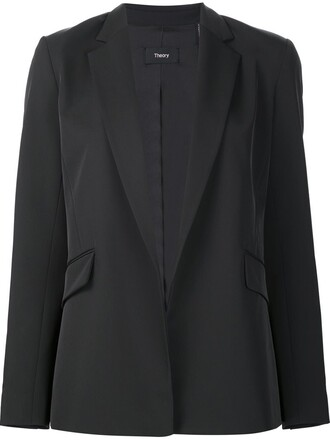 blazer women spandex black jacket