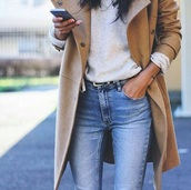 jacket,wool jacket,beige jacket,winter jacket,pure coton,trench coat,coat,beige,tan,winter outfits,fall outfits,fashion,jeans