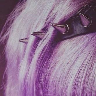 cool leather black hairstyles grunge soft grunge hippie rock purple purple hair studs pastel hair