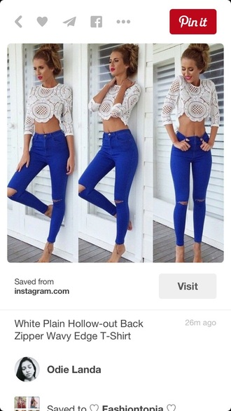 jeans skinny jeans skinny pants blue skinny jeans tank top blouse
