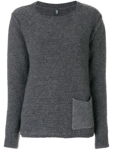 Eleventy jumper women mohair silk grey sweater