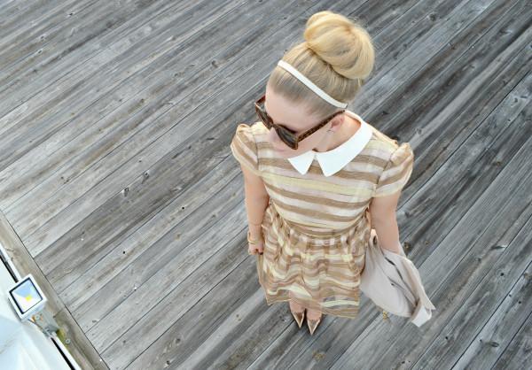 fash boulevard blogger jewels bag stripes sunglasses