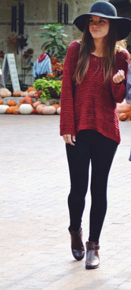red sweater fall outfits fall sweater