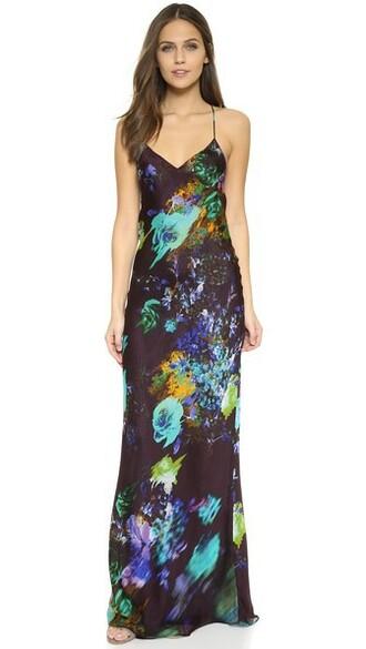 dress slip dress floral print plum