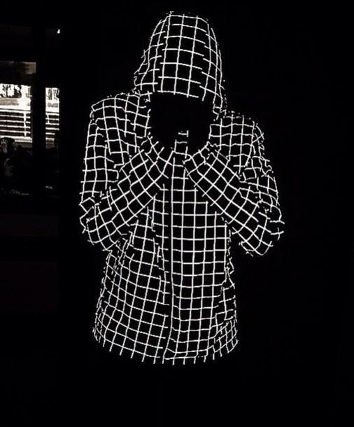 coat nike glow in dark with light