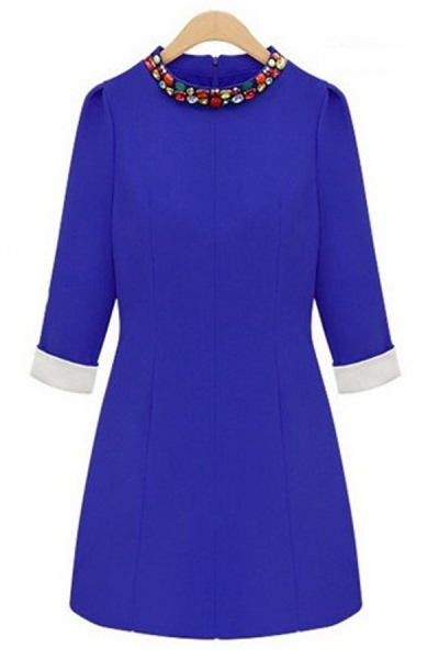Joker Bejeweled  3/4 Sleeve Dress - OASAP.com