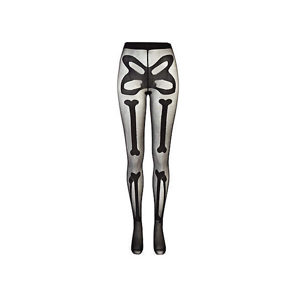 Black skeleton henry holland tights