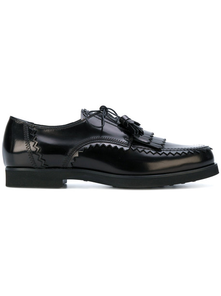 TOD'S women shoes leather black