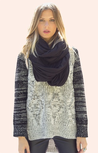 scarf infinity cowl neck black