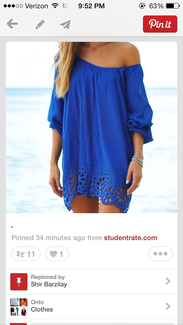 dress blue dress off the shoulder off the shoulder dress blouse pattern royal blue swim cover bright blue lace bottom Help need this dress